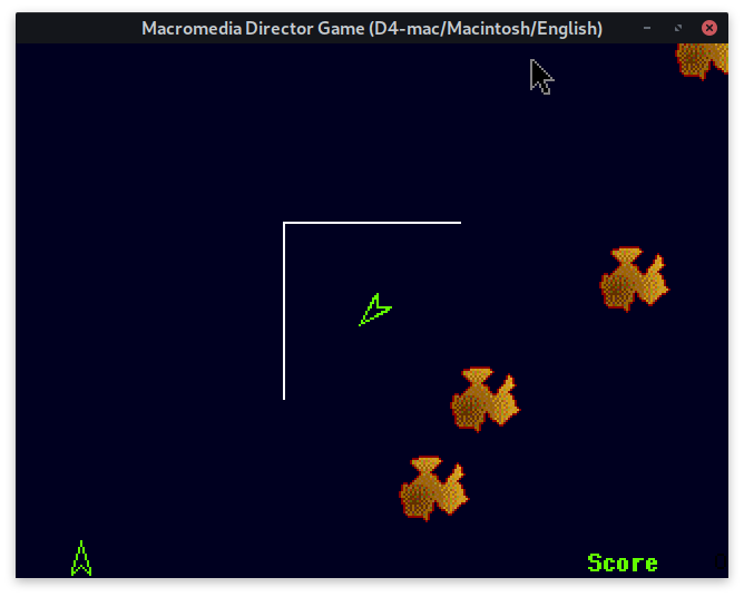 A Shockwave asteroids game